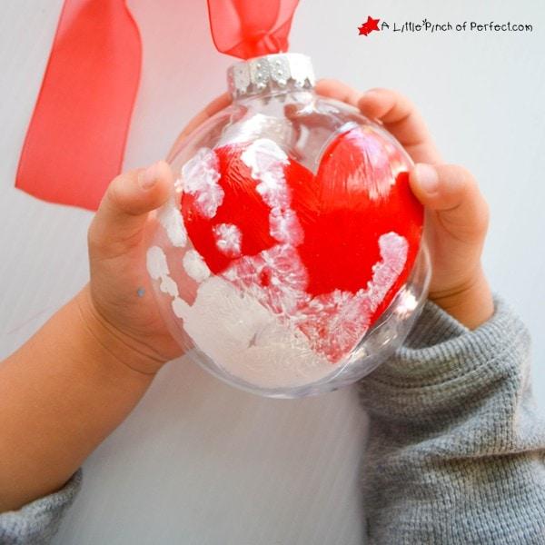 Handprint Keepsake Ornament that will melt your Heart