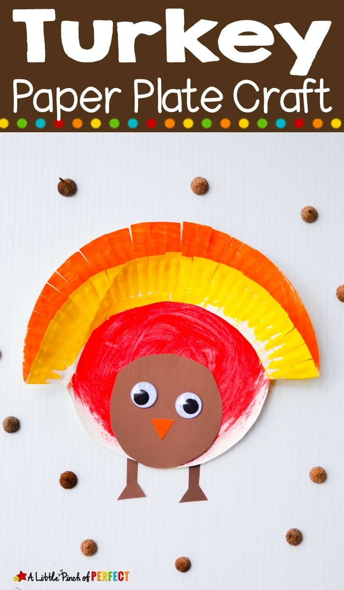 Turkey Paper Plate Kids Craft for Thanksgiving