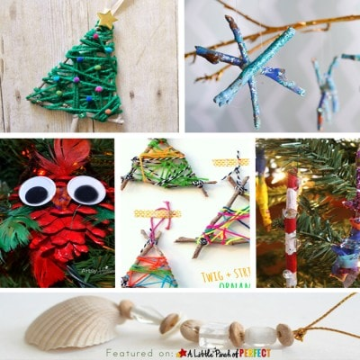 10 Christmas Ornament Nature Crafts to Make with Kids