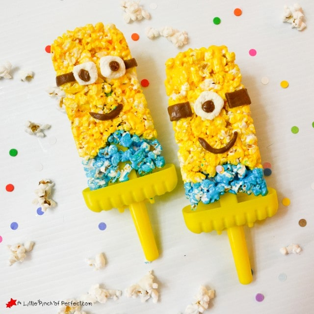 WHAAAT? How to Make a Minion Popcorn Treat on a Stick