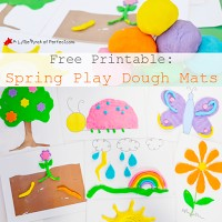 Free Printable: Spring Play Dough Mats for kids to get creative with