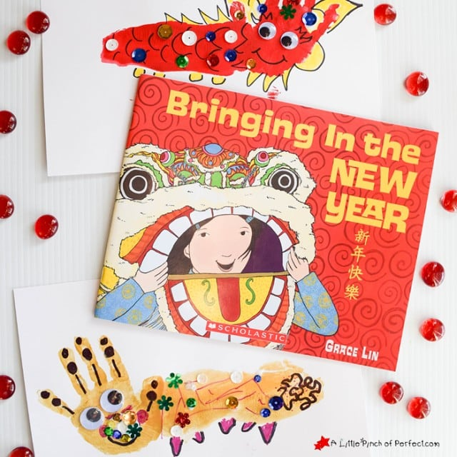Dragon Handprint Chinese New Year Craft for Kids