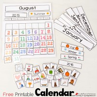 Free Printable Interactive Calendar perfect for school or home