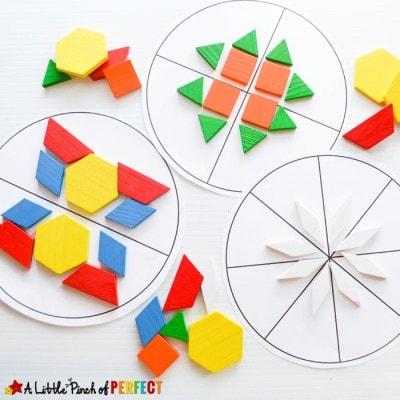 Symmetry Circles Math Activity and Free Printable