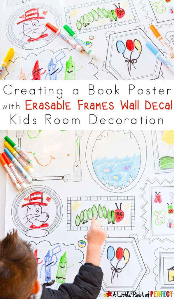 Decorating Kids Room with Erasable Frames Wall Decal_A Little Pinch of Perfect copy
