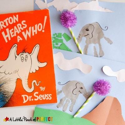Handprint Horton the Elephant Craft with Dr. Seuss