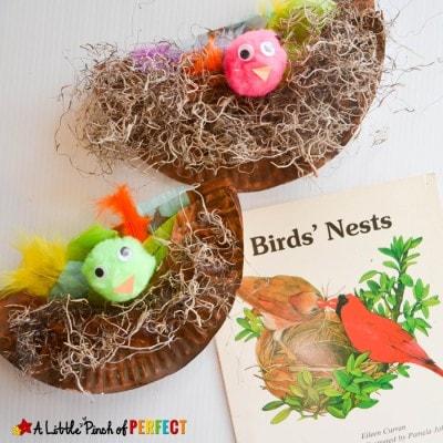 Paper Plate Bird Nest Craft the Kids will Cheep About