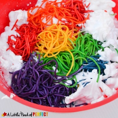 Rainbow and Clouds Sensory Play Activity for Kids