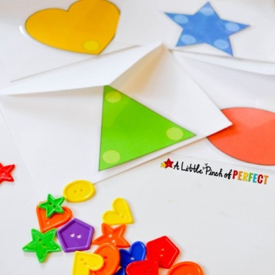 Shape Surprise and Sort Mailbox Activity For Kids