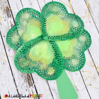 Lovely St. Patrick's Day Shamrock Craft for Kids