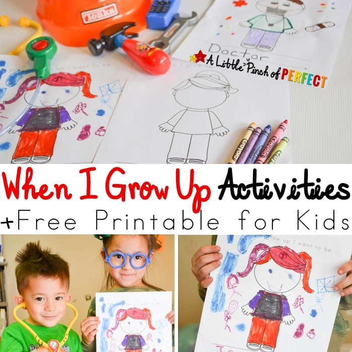 When I Grow Up Activities Color and Write Free Printable_A Little Pinch of Perfect square copy