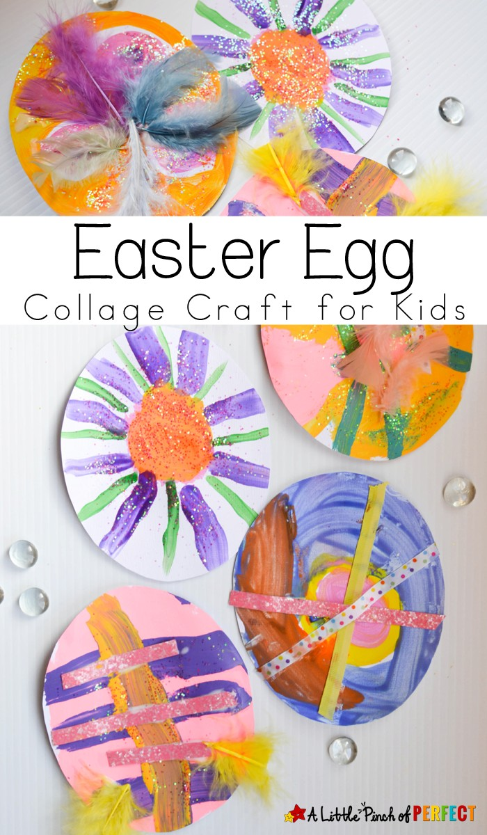Easter Egg Paper Collage: An easy craft that's all about letting kids enjoy the process of making, creating, and Easter decorating using supplies from your craft closet.