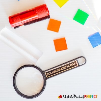 Exploring Rainbows, Lights, and Color Science Play for Kids