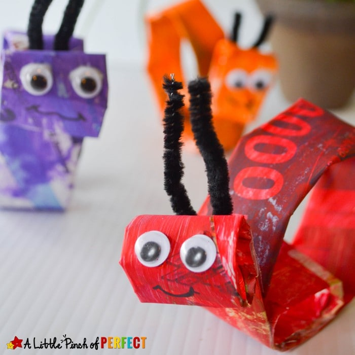 Spiral Snail Newspaper Kids Craft: An easy craft for kids to paint and create