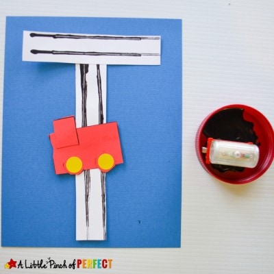 Letter of the Week A-Z Series: T is for Train Activities for Kids