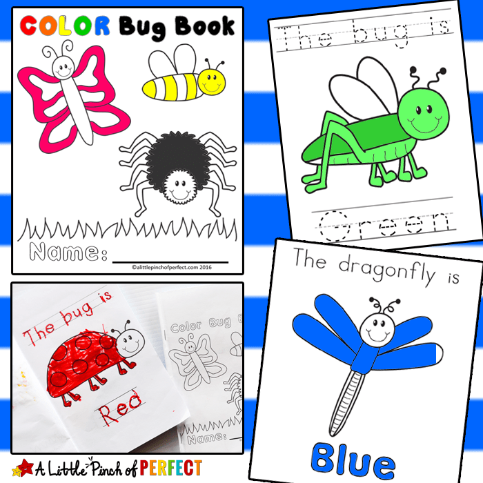 color the bug free printable emergent reader book kids can color butterflies bees - Free Printable Books For Kids