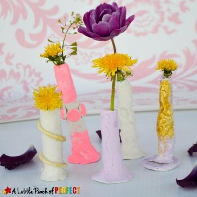 Kid Made Dandelion Vase for Mom on Mother's Day