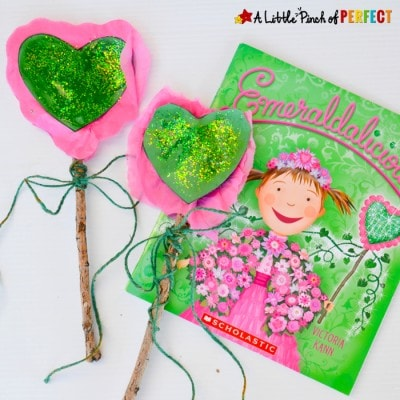 Emeraldalicious Sparkle Wand Nature Craft for Earth Day