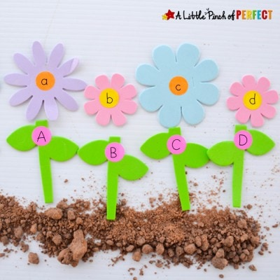 ABC Letter Matching Flowers Activity