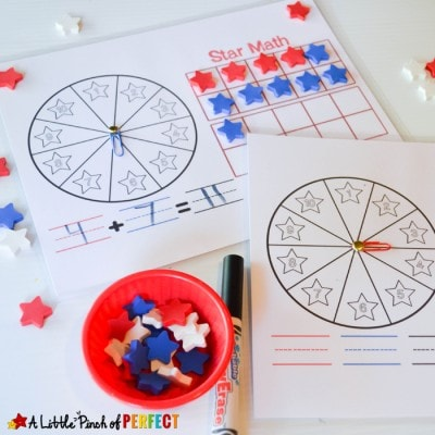 4th of July 10 Frame Math Activities: Free Printable
