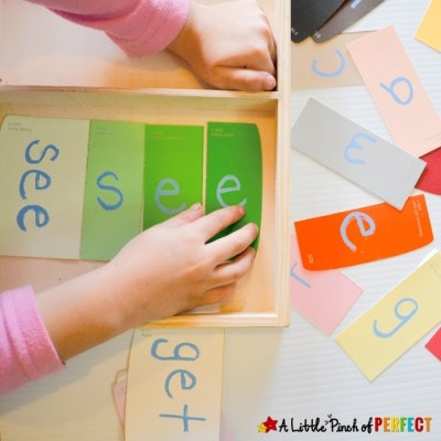 Sight Word Paint Sample Puzzles for Kids