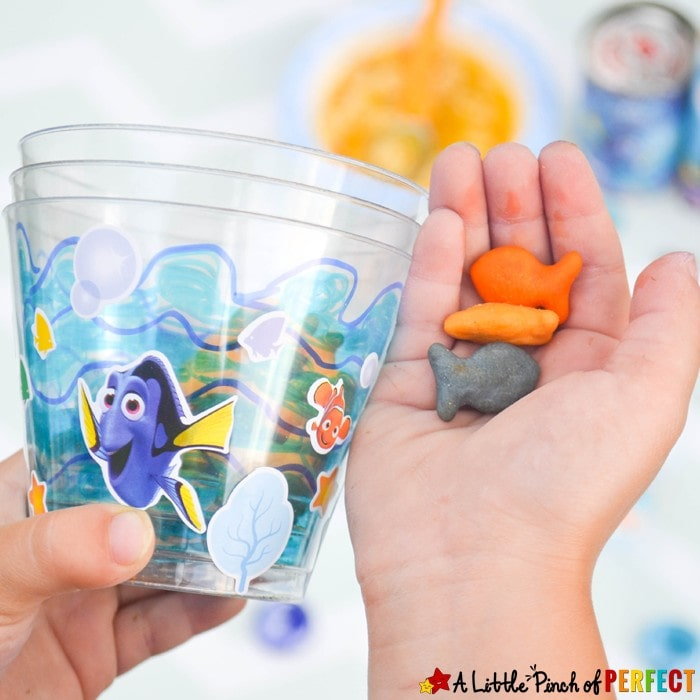 Swimming Fish Cup Craft: Kids twist cups to watch Dory, Nemo, and friends swim. Perfect for summer, parties, and snacks.