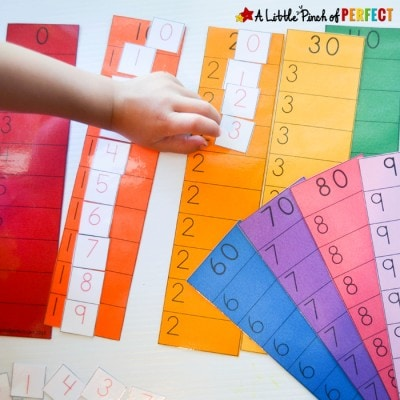 Learn to Count to 100: Place the Ones Free Printable Math Activity