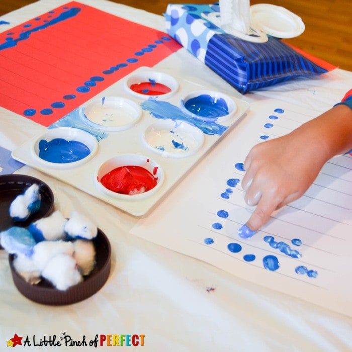 Patriotic Lantern Craft to Make on Labor Day with Kids and Free Template (Paper craft, Labor Day, Fourth of July, Memorial Day)