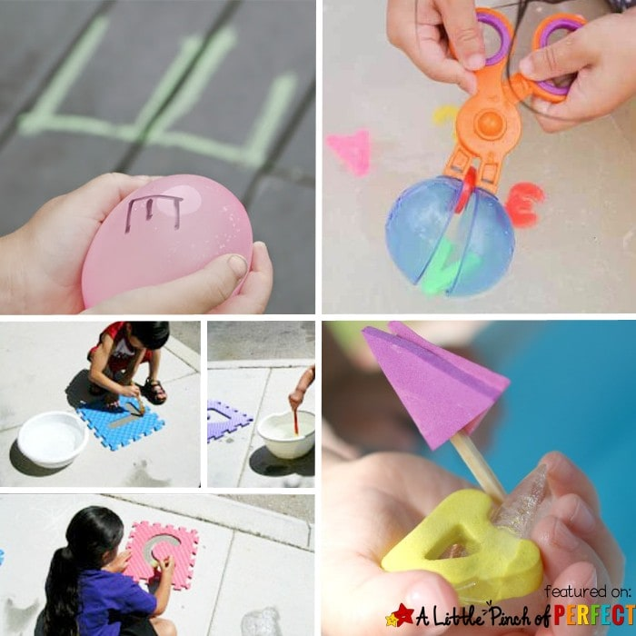 Cool Ways for Kids to Play with Water: With these 12 activities, kids can choose from a wide variety of topics including art, music, science, the abc's, and just plain fun--there is something for everyone to enjoy this summer! (summer, water play)