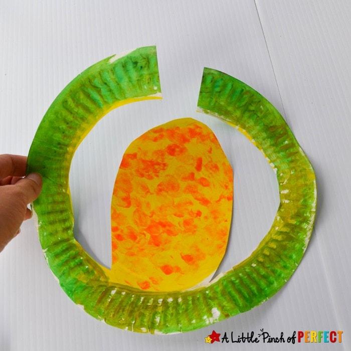 Paper Plate Corn Craft: Easy for Kids to Make (Fall Craft, Farm, Harvest, Preschool, Kindergarten)