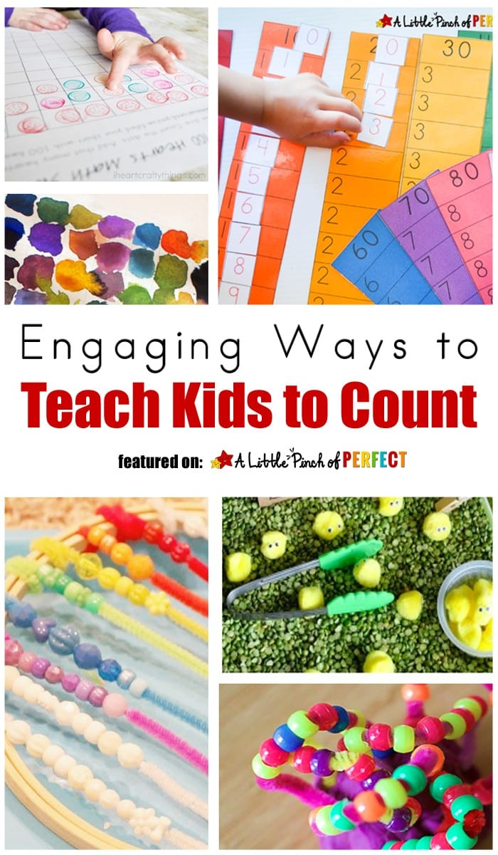 Engaging Ways to Teach Kids to Count (math, preschool, kindergarten, counting to 100)