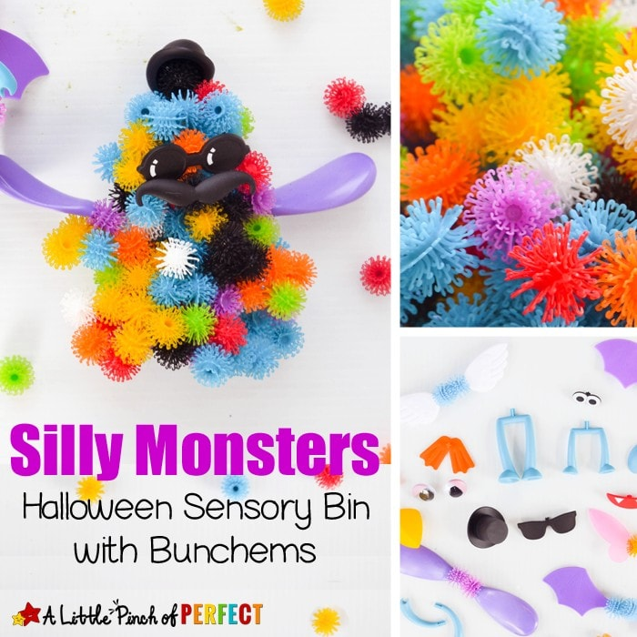 Create a Monster Sensory Play: A not so spooky activity for kids (Halloween) #sponsored Spin Master #BunchemsAlive #CG