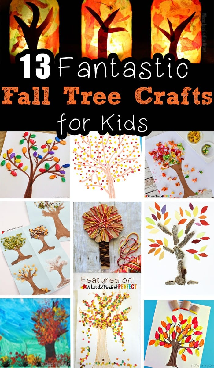 13 Fantastic and Easy Fall Tree Crafts for Kids to Make: Choose from different styles and mediums like yarn, seeds, paint, popcorn, toilet paper rolls and more. (Autumn, arts and crafts)