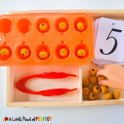 Halloween Pumpkin Counting and Fine Motor Skills Activity