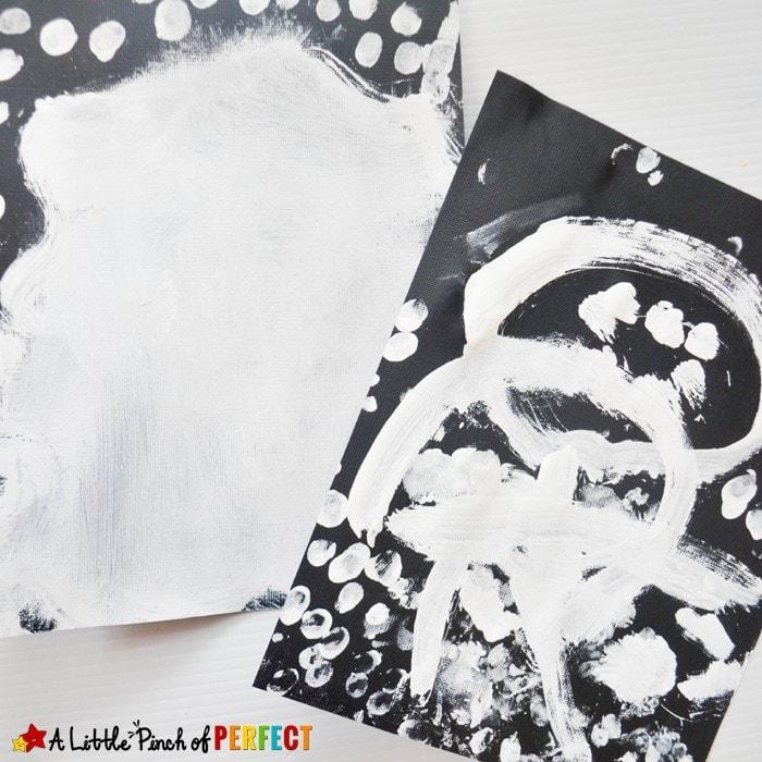 "Happy Halloween Ghost Handprint Kids Craft: These little handprint ghosts look like they are saying, ""Boo!"" (Kids art, Toddler, Preschool, kindergarten)"
