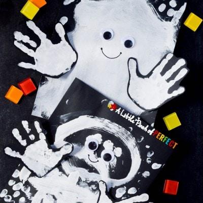 Happy Halloween Ghost: Handprint Kids Craft