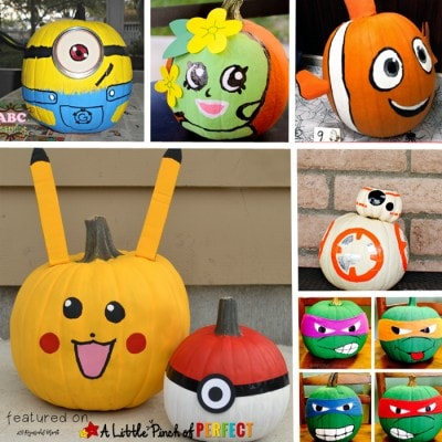 10 Halloween No Carve Pumpkin Ideas of Favorite Kids Characters