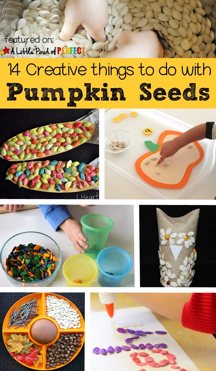 Pumpkin Seed Activities for Kids: Creative ways to craft, play, and learn with pumpkin seeds (Fall. Halloween)