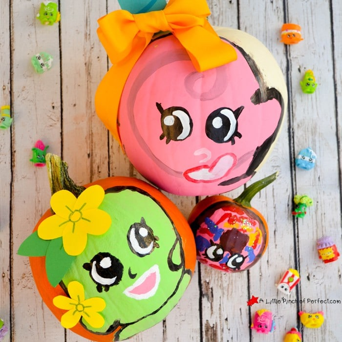 10 Easy No Carve Pumpkin Ideas for Kids to make on Halloween of their Favorite Characters (Shopkins, Nemo, Minions, Pokemon, and more)