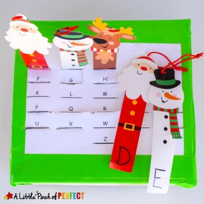 Christmas Letter Match and Fine Motor Skills Activity and Free Template