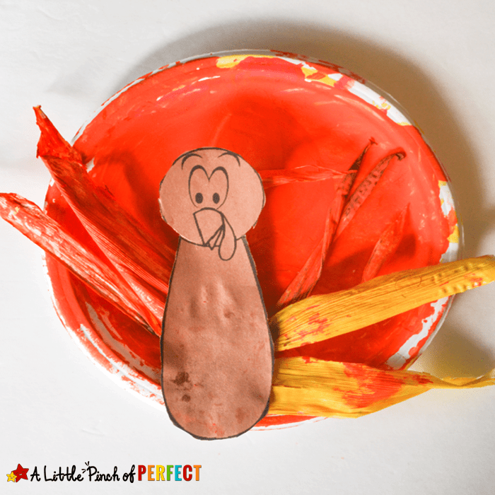Corn Husk Turkey Craft for Thanksgiving Crafting with Kids