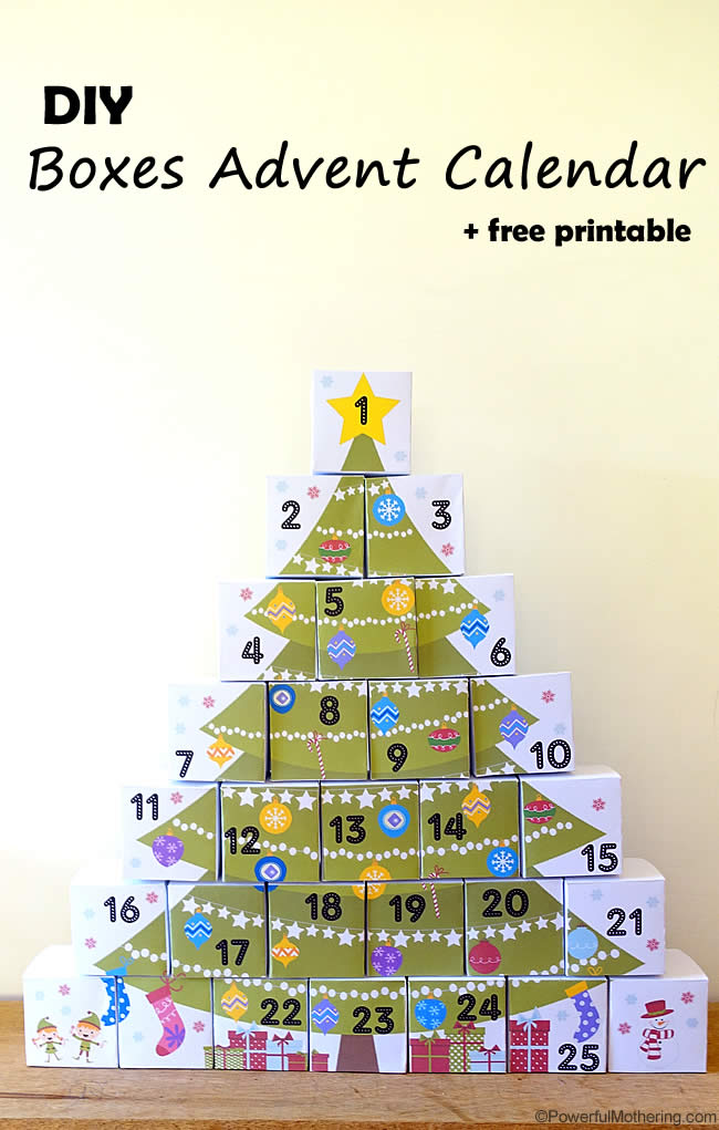 photograph regarding Free Printable Christmas Tree referred to as 13 No cost Printable Xmas Arrival Calendars for Children -