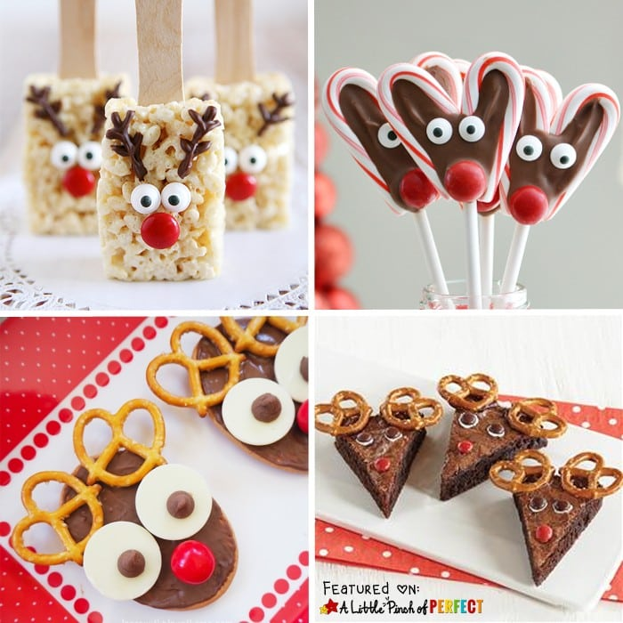 35 Easy and Cute Holiday Treats to Enjoy at Your Christmas Party: The list includes winter favorites like snowflakes, penguins, and snowmen as well as traditional Christmas ideas like Santa, Rudolph, Christmas trees, and ornaments. They are easy to make so kids could help make them too.