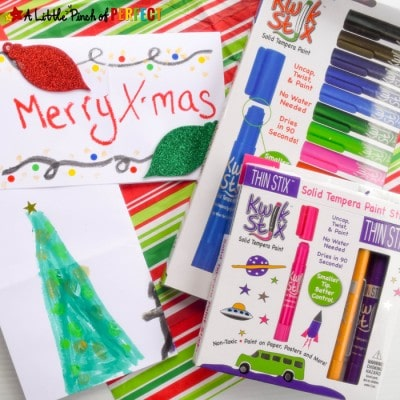 How to Make Cute and Quick Christmas Cards with the Kids