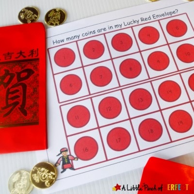 Chinese New Year Red Envelope Math Activity and Free Printable for Kids