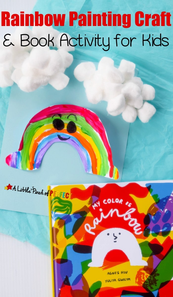 Let kids explore colors as they paint an arch to brighten up any rainy day inspired by the new book, My Color Is Rainbow (Spring, St. Patrick's Day, Emotions, Preschool, Kindergarten)