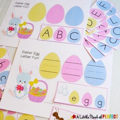 Easter Egg Alphabet Match Free Printable Activity for Kids