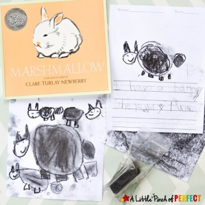 Easter Bunny Art for Kids Inspired by the Book Marshmallow