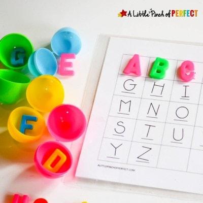 ABC Easter Egg Alphabet Hunt for Kids