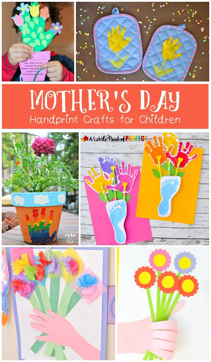 Mother's Day Handprint Crafts for Children to Make that are Extra Special and Cute.